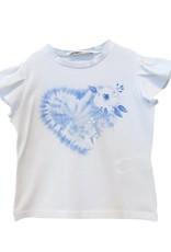 Elsy T-shirt wit bloem Albi