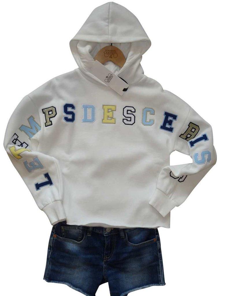 Le temps des cerises sweater kap wit letters