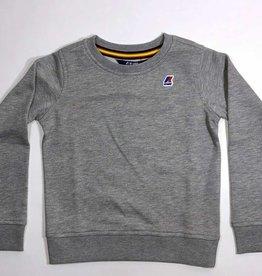 K-Way sweater ronde hals licht grijs