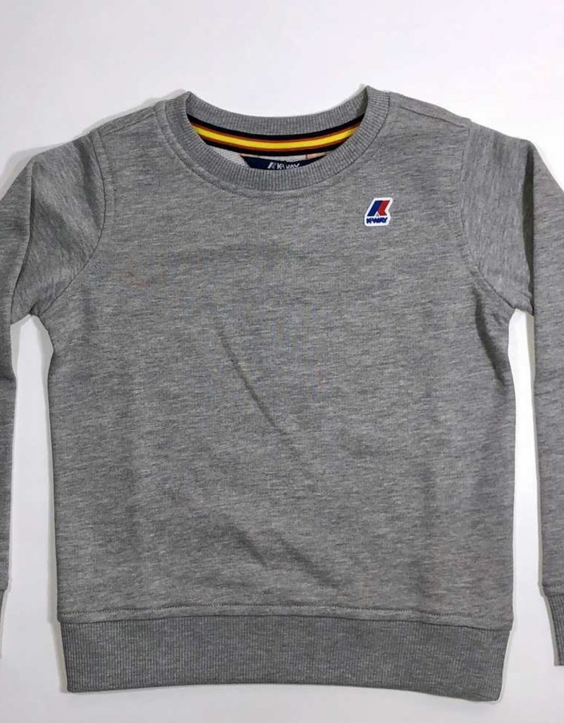 K-Way sweater ronde hals licht grijs