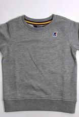 K-Way sweater ronde hals licht grijs volw