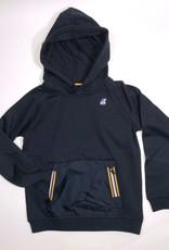 K-Way sweater kap twee x rits steekzak blauw