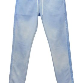 Elsy broek jogging blauw bleached glitter