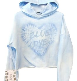 Elsy sweater jog kap blauw bleached