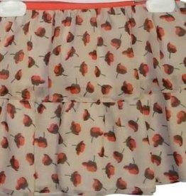 Liu Jo rok bloemetjes ecru rood