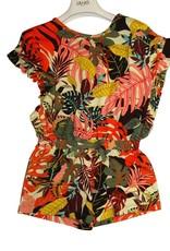 Liu Jo jumpsuit jungle multicolor oranje