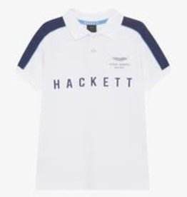 Hackett polo wit army schild