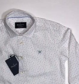Hackett hemd wit multi triangle print