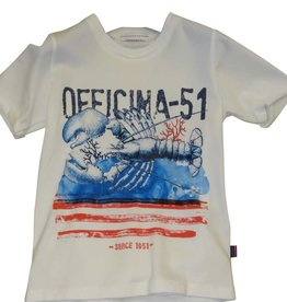 Officina51 T-shirt wit krab
