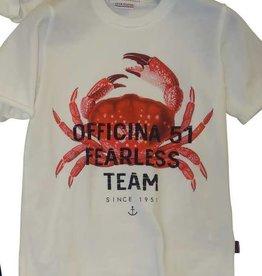 Officina51 T-shirt wit kreeft