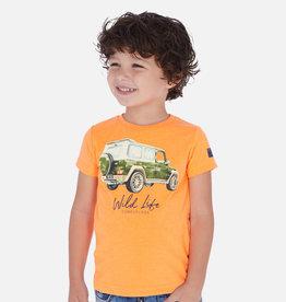 Mayoral T-shirt oranje met auto