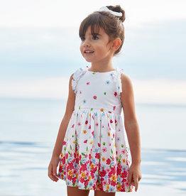 Mayoral jurk wit bloemenrand