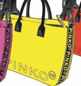 Pinko tas shopper geel fluo