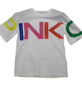 Pinko t-shirt wit logo groot kleur