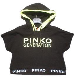 Pinko sweater kap zwart en  fluo km