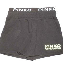 Pinko short zwart fluo geel logo