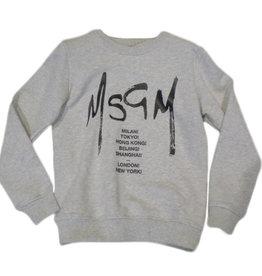 MSGM sweater grijs unisex print zwart
