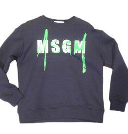 MSGM sweater blauw fluo green unisex