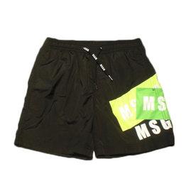 MSGM short broek zwart jersey