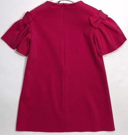 Il Gufo jurk fuchsia wijdere mouw
