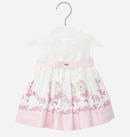 Mayoral jurk ecru roze beren