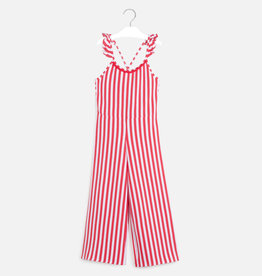 Mayoral jumpsuit streep lang rood wit