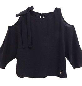 Kocca top zwart open schouder