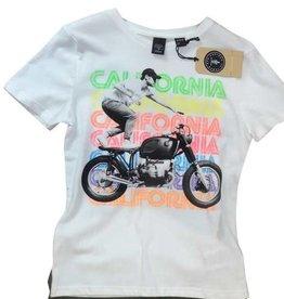 Le temps des cerises T-shirt wit motor fluo letters