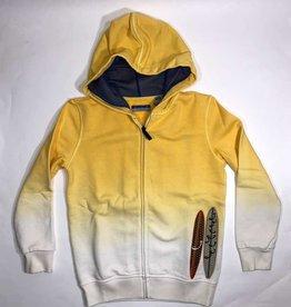 Jacob Cohën sweater geel met kap
