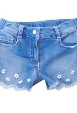 Elsy broek short jeans bloemetjes