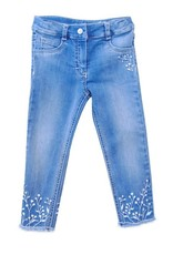Elsy broek jeans opdruk takjes