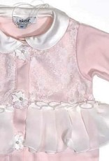Aletta kruippakje zacht roze voile kraagje kant