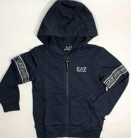 Armani gilet sweater rits kap blauw donker EA7