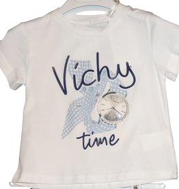Fun Fun T-shirt wit vichy horloge