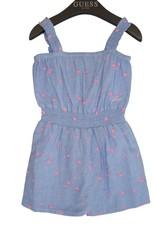 Guess jumpsuit blauw fuchsia print