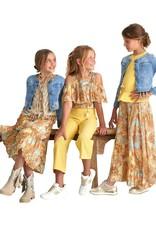 Rtb rok lang multicolor oranje oker lichtblauw
