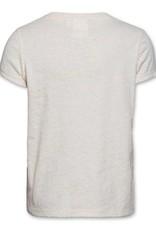 Ao76 T-shirt ecru palmboom fluo