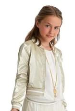 Diamante Blu top blouse voile km boord goud