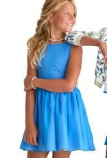 Diamante Blu jurk kobalt zwier ceintuur