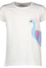 Blue Bay T-shirt wit pauw Alice