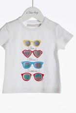 Blue Bay T-shirt wit bril Adele