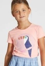 Blue Bay T-shirt toecan fluo roze Ava