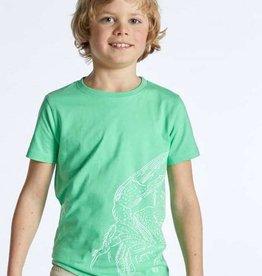 Blue Bay T-shirt fel groen kikker Tobias