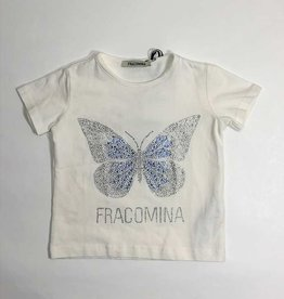 Fracomina T-shirt wit vlinder glitter