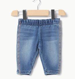 Liu Jo broek jeans gouden stipjes zijkant