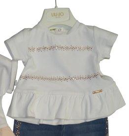 Liu Jo T-shirt wit gouden stipjes
