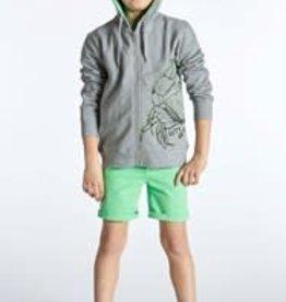 Blue Bay sweater hoodie kap rits grijs Jake