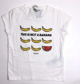 Liu Jo T-shirt wit bananen meloen glitter