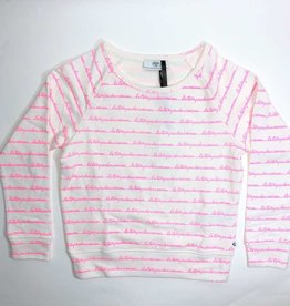 Le temps des cerises sweater wit letters fluo opdruk