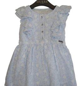 Guess jurk licht blauw wit bloem